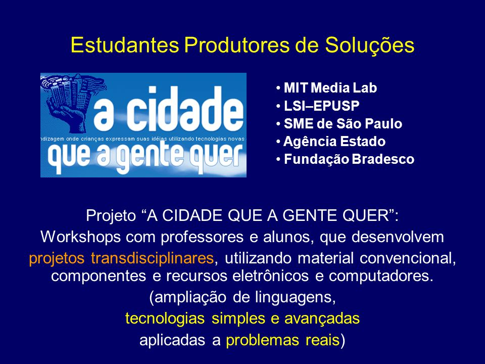 Estudantes Produtores de Soluções