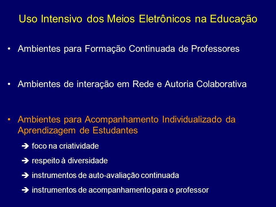 Uso Intensivo dos Meios Eletrônicos na Educação