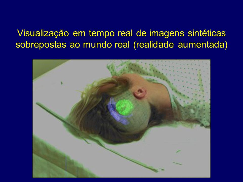Visualização em tempo real de imagens sintéticas sobrepostas ao mundo real (realidade aumentada)