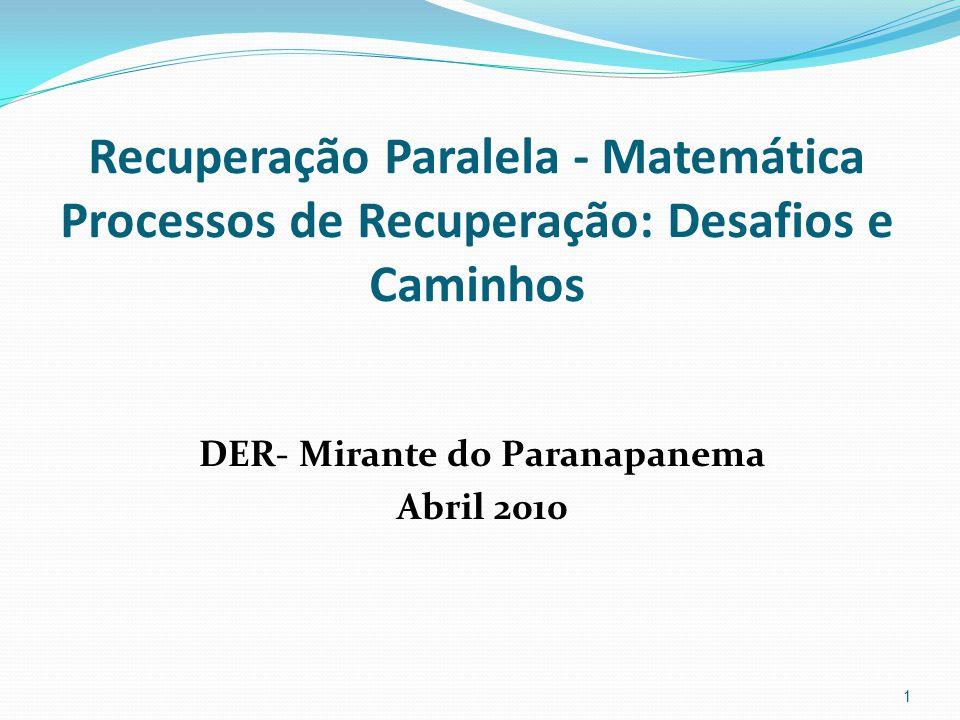 DER- Mirante do Paranapanema Abril 2010