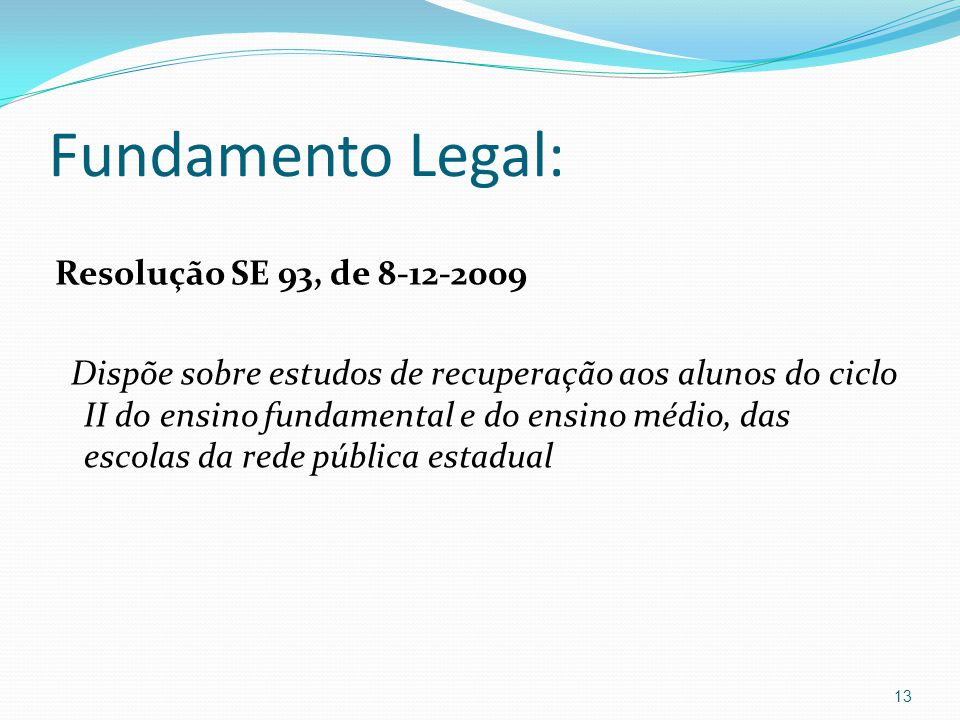 Fundamento Legal: