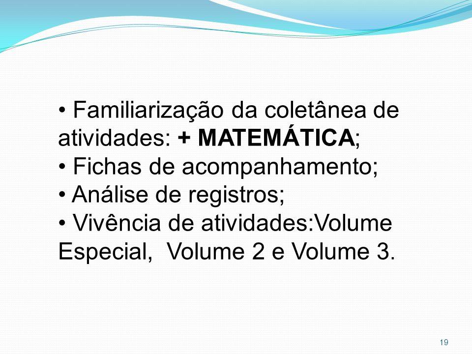 Familiarização da coletânea de atividades: + MATEMÁTICA;
