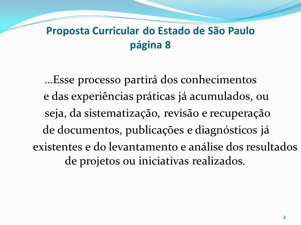 Proposta Curricular do Estado de São Paulo página 8