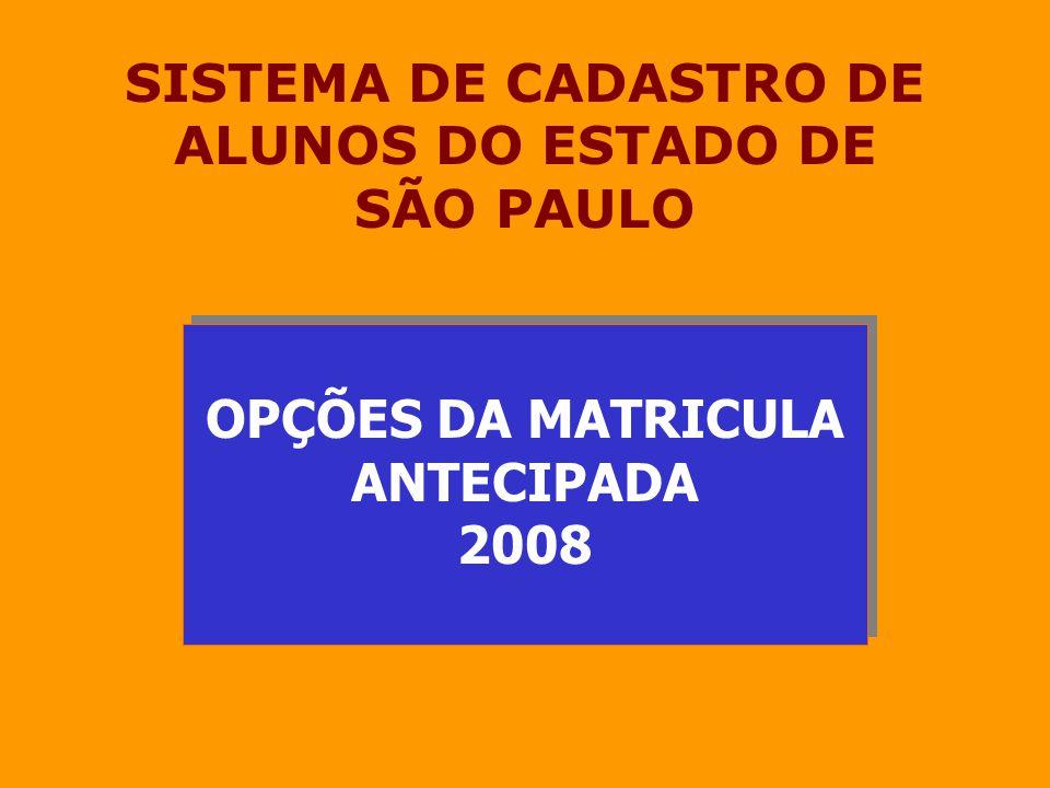 SISTEMA DE CADASTRO DE ALUNOS DO ESTADO DE