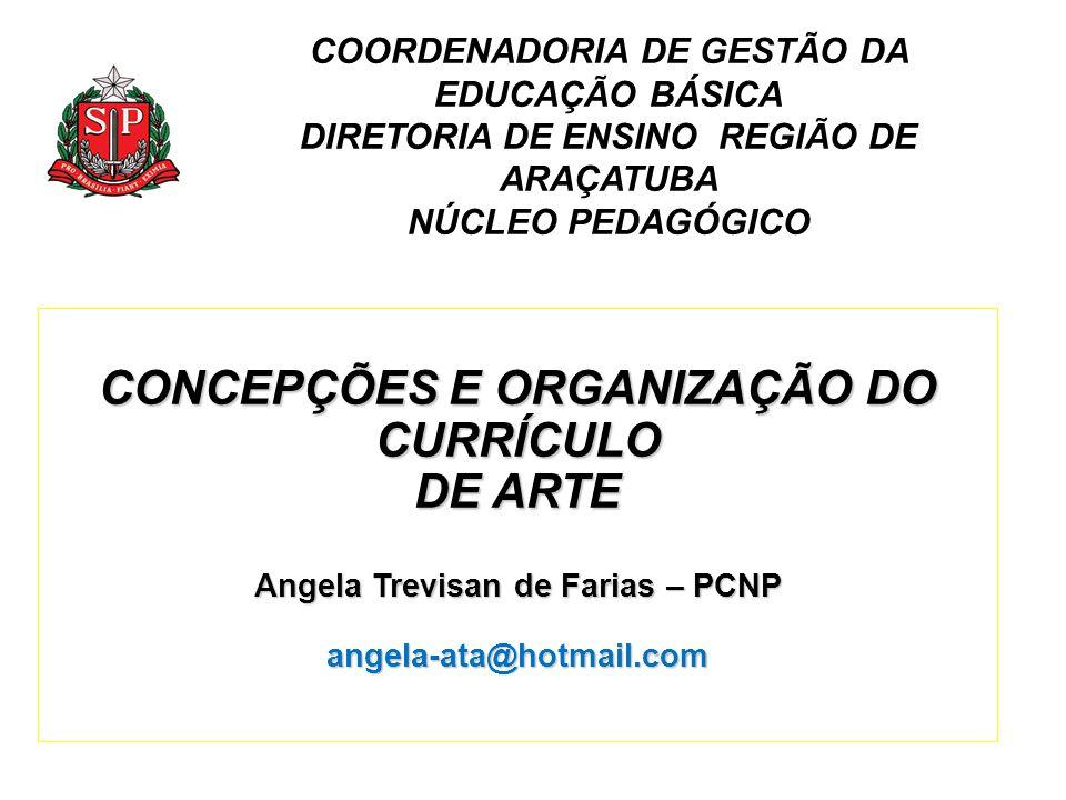 CONCEPÇÕES E ORGANIZAÇÃO DO CURRÍCULO DE ARTE