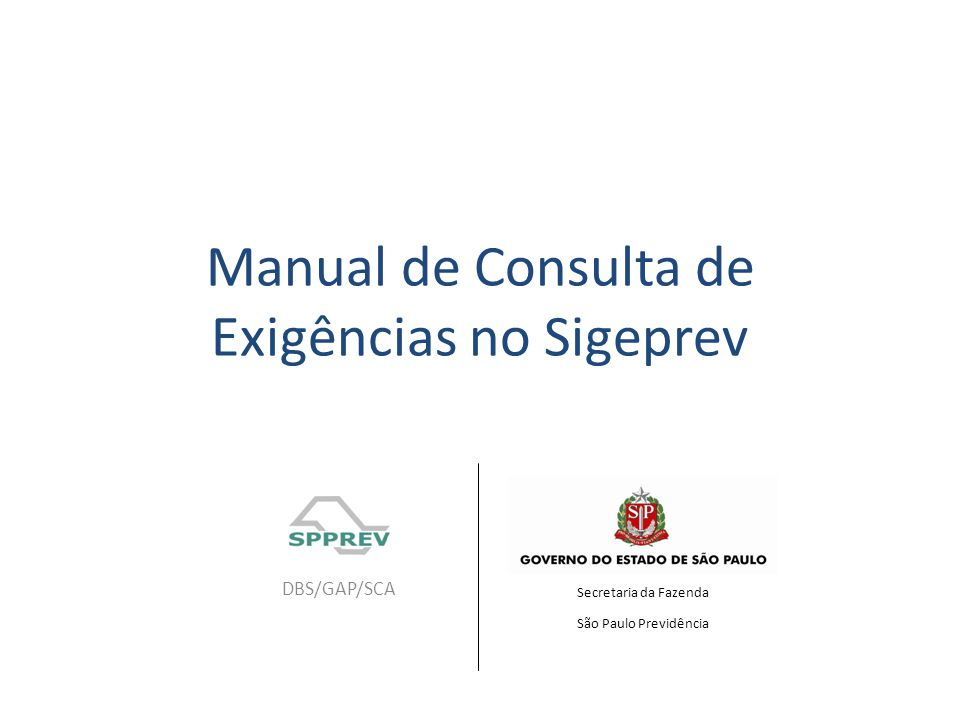 Manual de Consulta de Exigências no Sigeprev