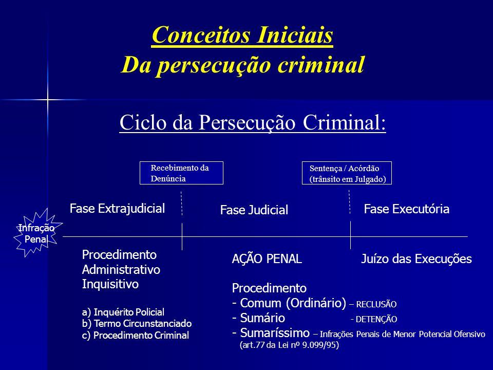 Da persecução criminal