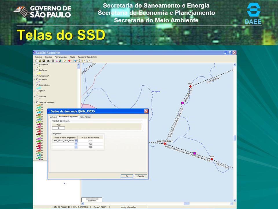 Telas do SSD