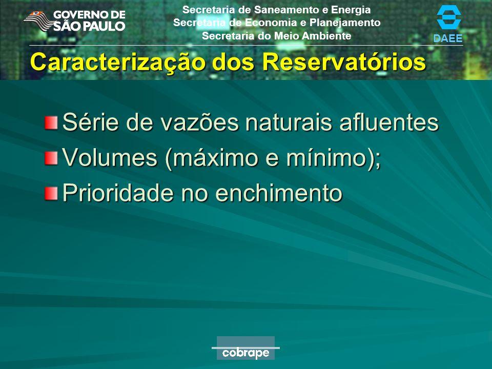 Caracterização dos Reservatórios