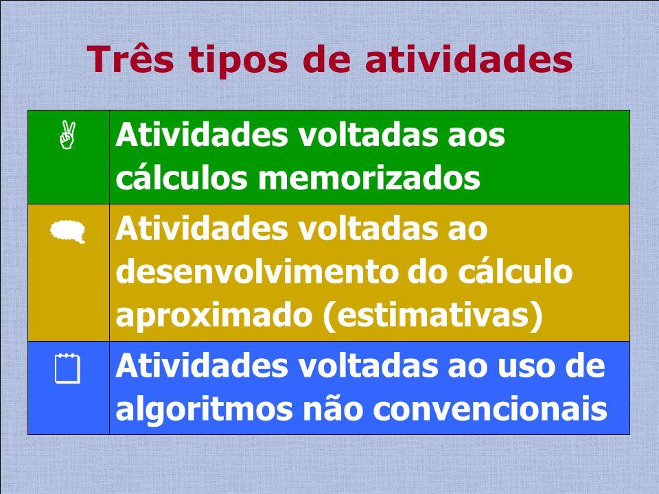 Três tipos de atividades