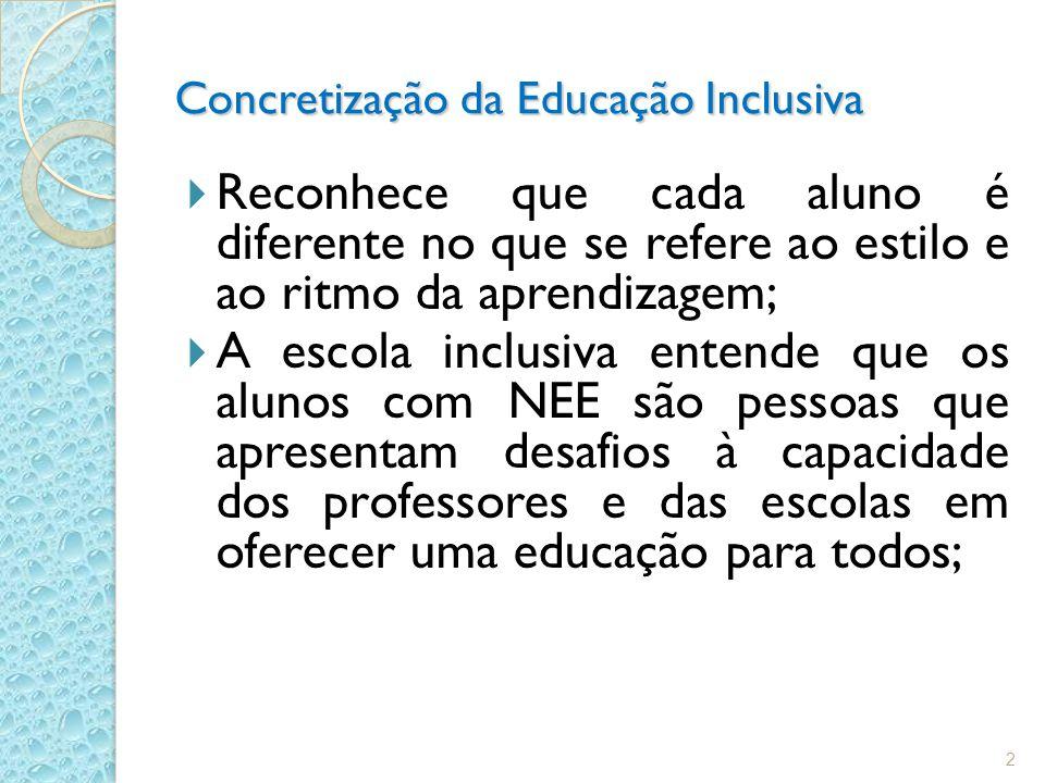 Concretização da Educação Inclusiva