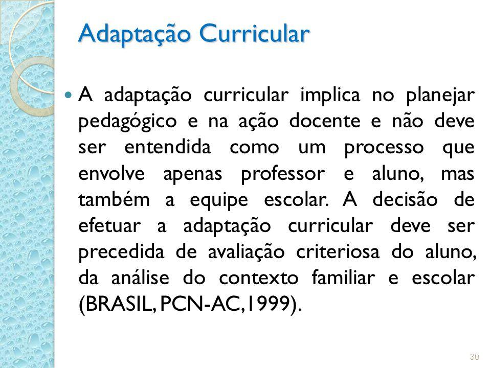 Adaptação Curricular