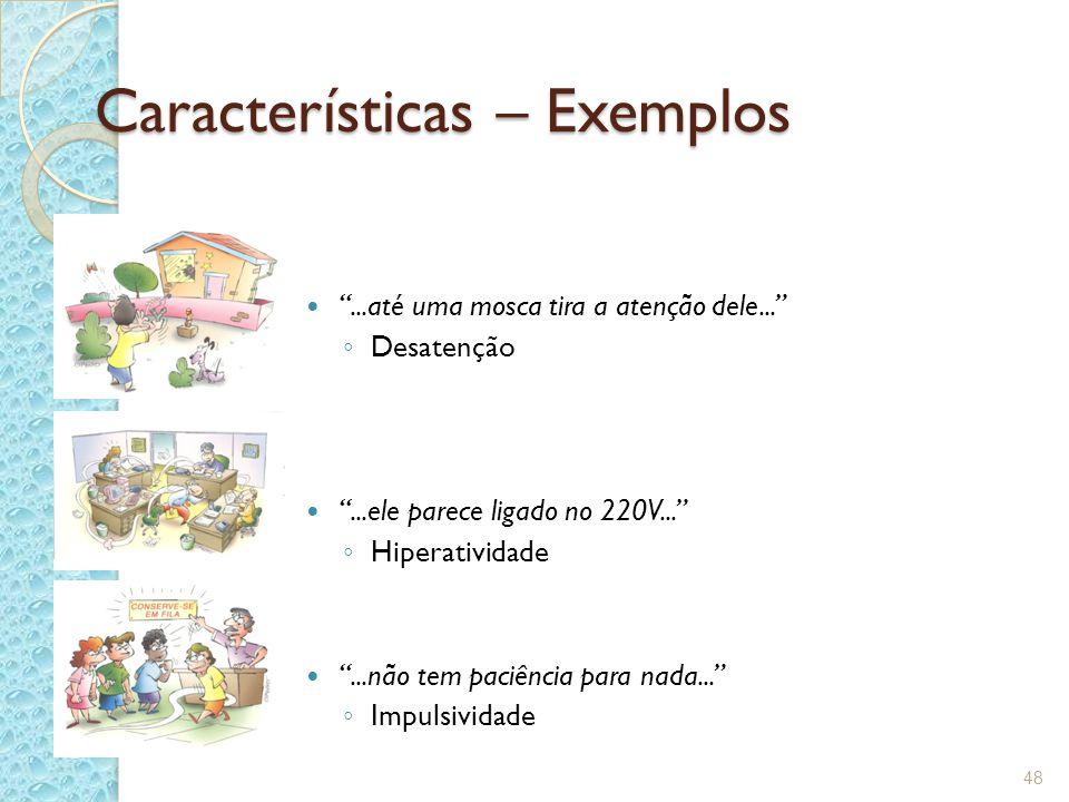 Características – Exemplos