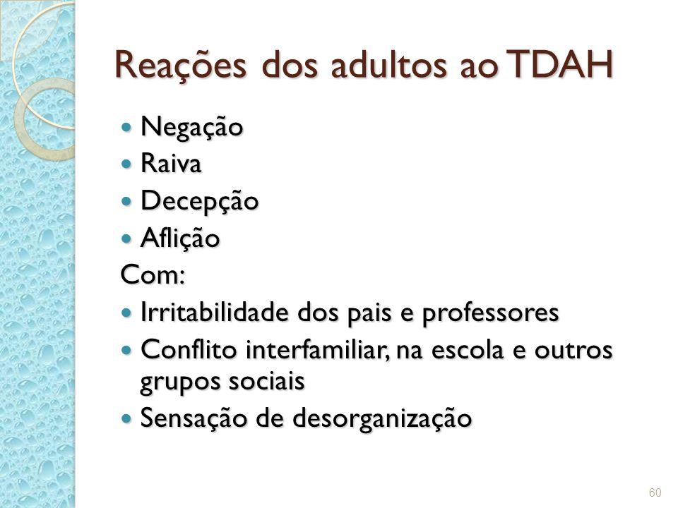 Reações dos adultos ao TDAH