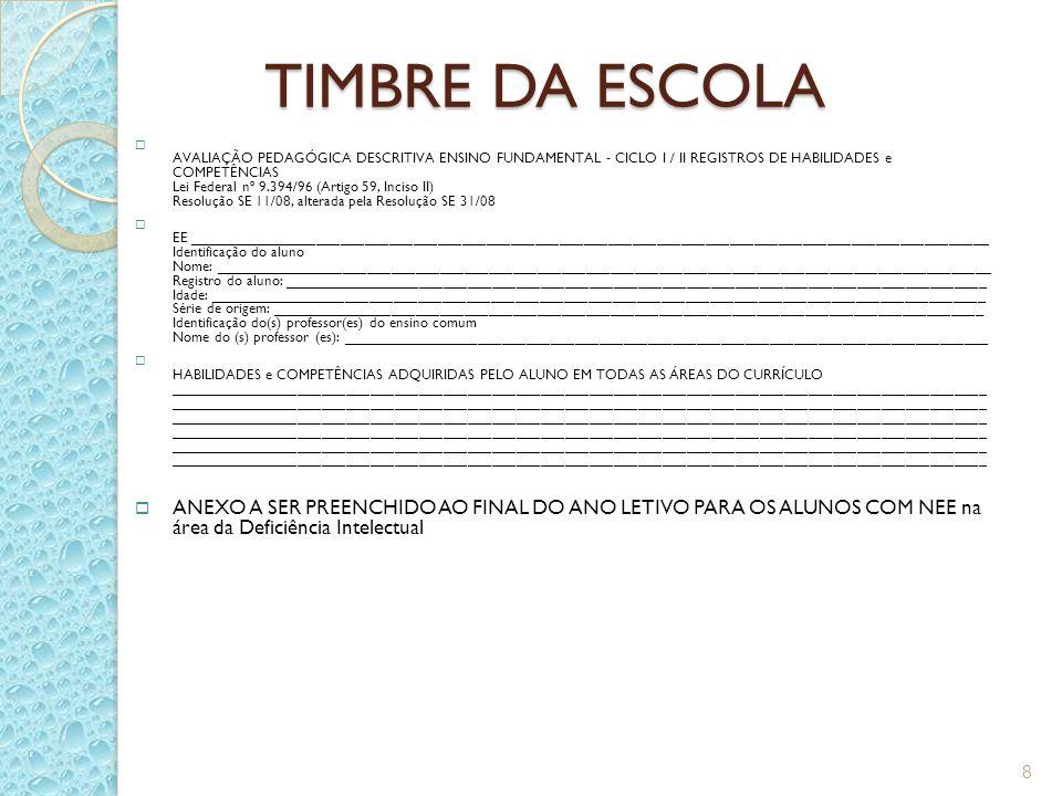 TIMBRE DA ESCOLA