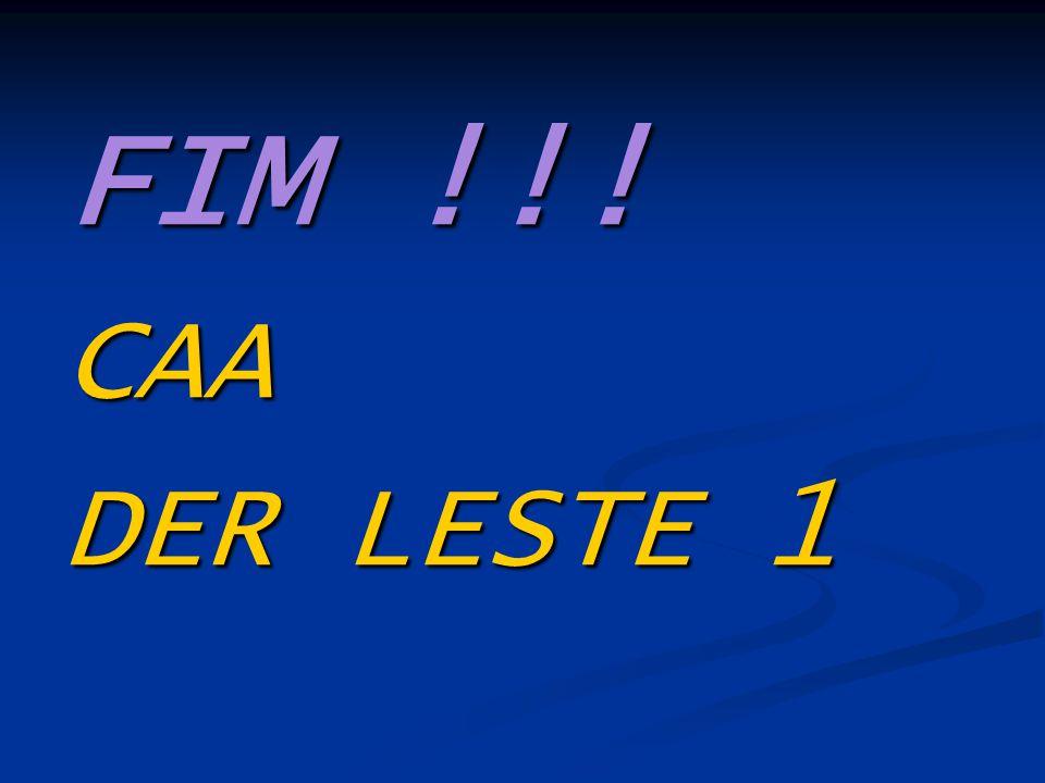 FIM !!! CAA DER LESTE 1