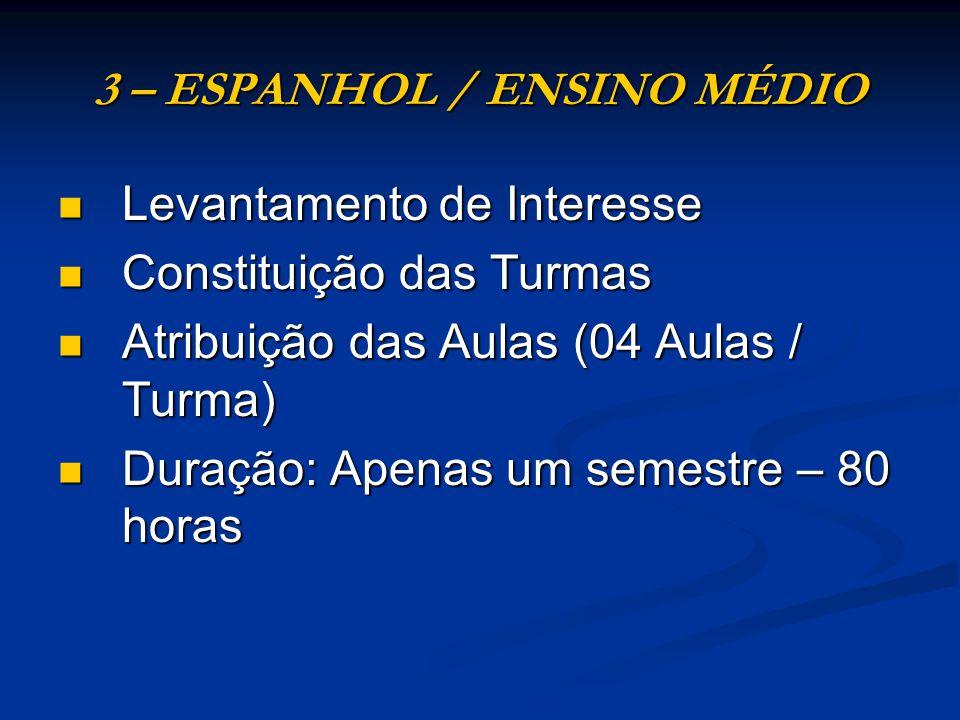 3 – ESPANHOL / ENSINO MÉDIO