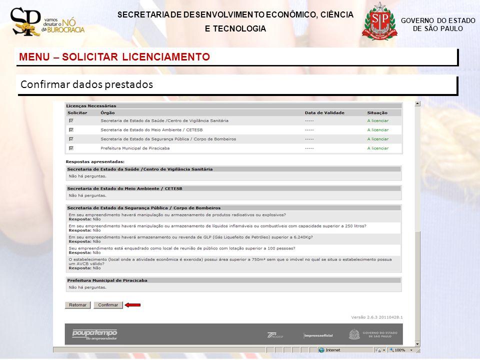 SECRETARIA DE DESENVOLVIMENTO ECONÔMICO, CIÊNCIA