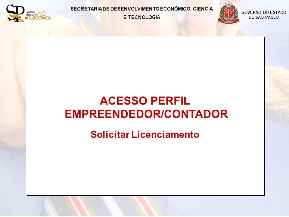 ACESSO PERFIL EMPREENDEDOR/CONTADOR