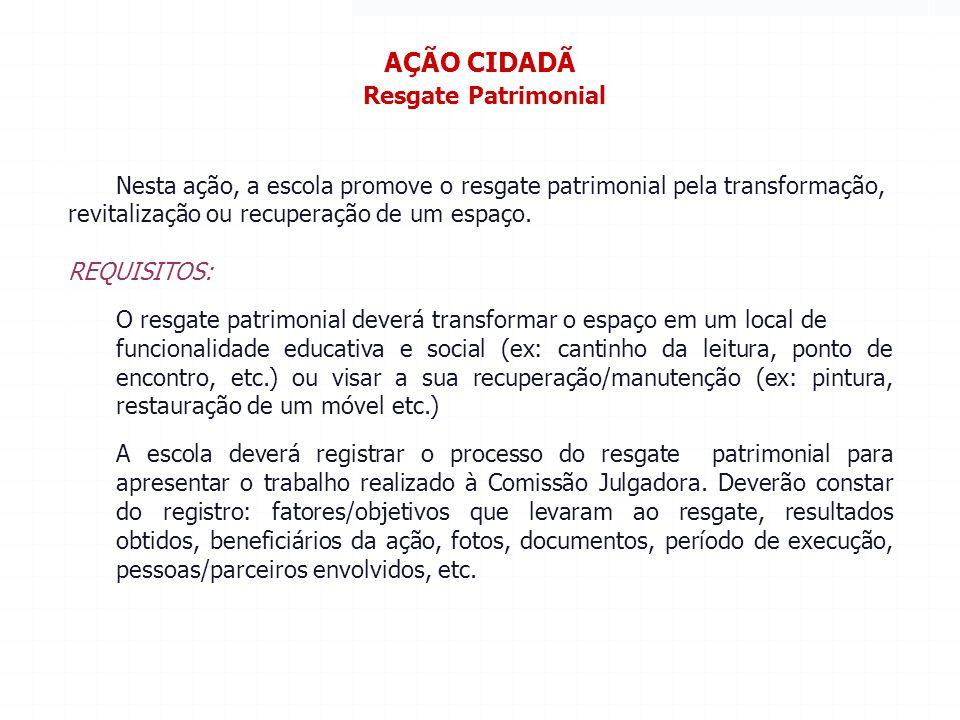 AÇÃO CIDADÃ Resgate Patrimonial