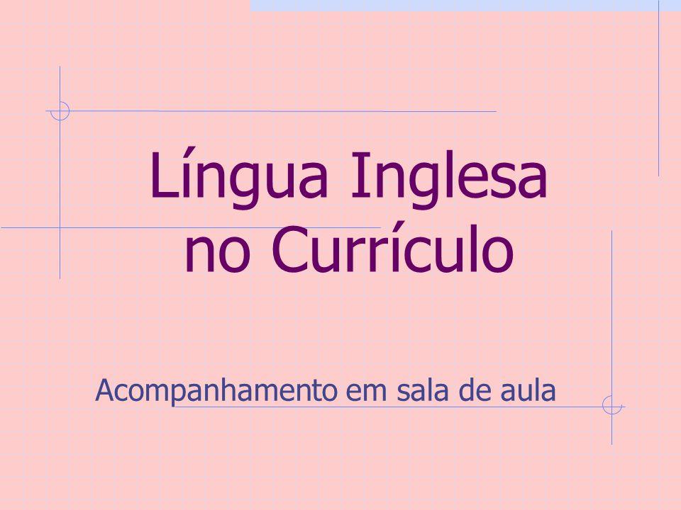 Língua Inglesa no Currículo