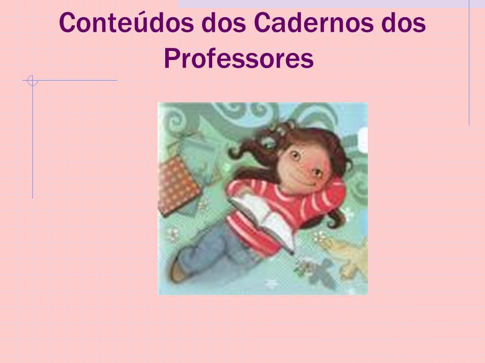 Conteúdos dos Cadernos dos Professores