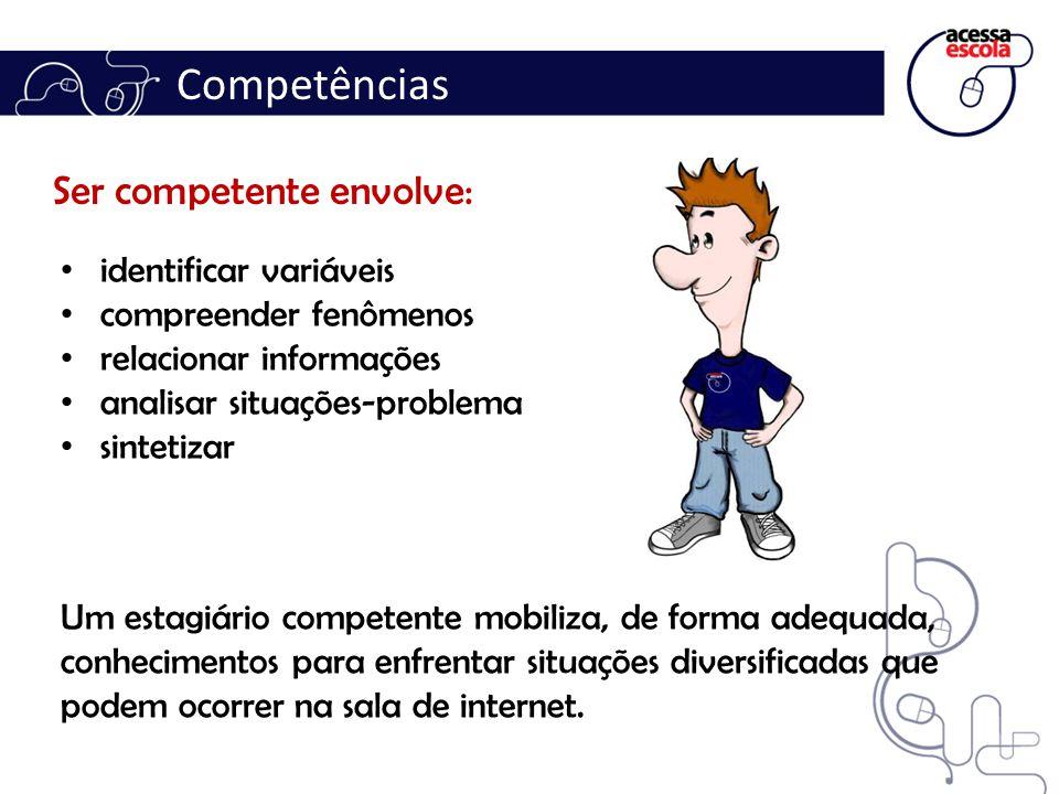 Competências Ser competente envolve::.. identificar variáveis