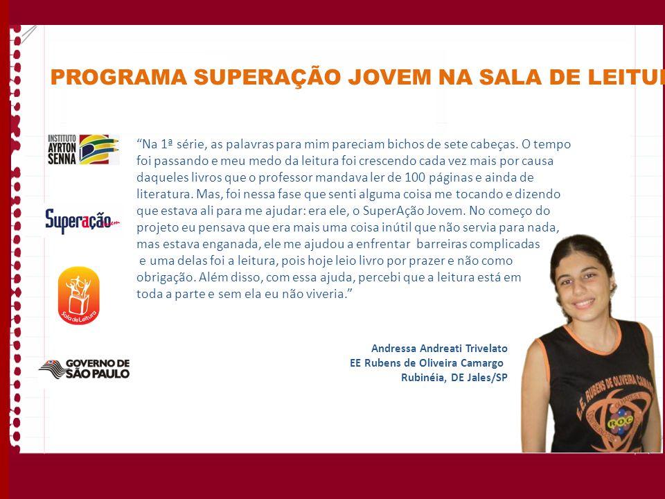 PROGRAMA SUPERAÇÃO JOVEM NA SALA DE LEITURA