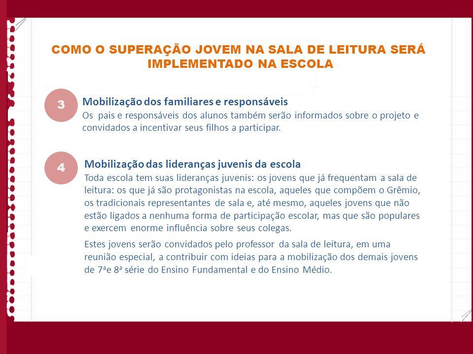 COMO O SUPERAÇÃO JOVEM NA SALA DE LEITURA SERÁ IMPLEMENTADO NA ESCOLA