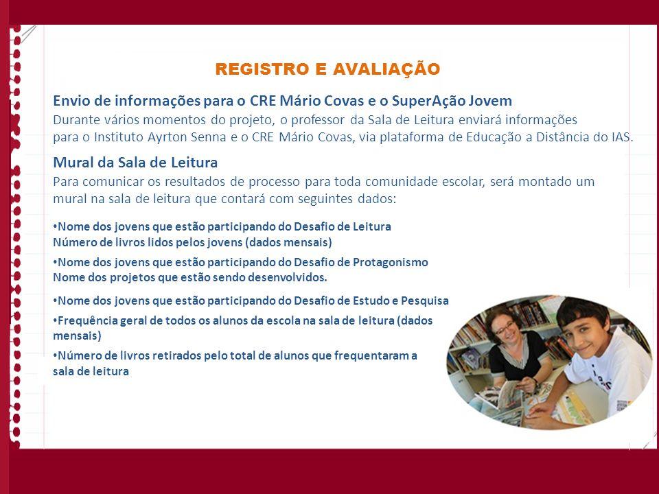 Envio de informações para o CRE Mário Covas e o SuperAção Jovem