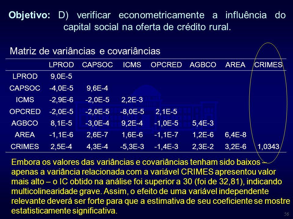 Matriz de variâncias e covariâncias