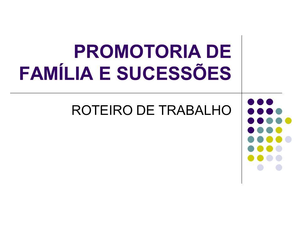 PROMOTORIA DE FAMÍLIA E SUCESSÕES
