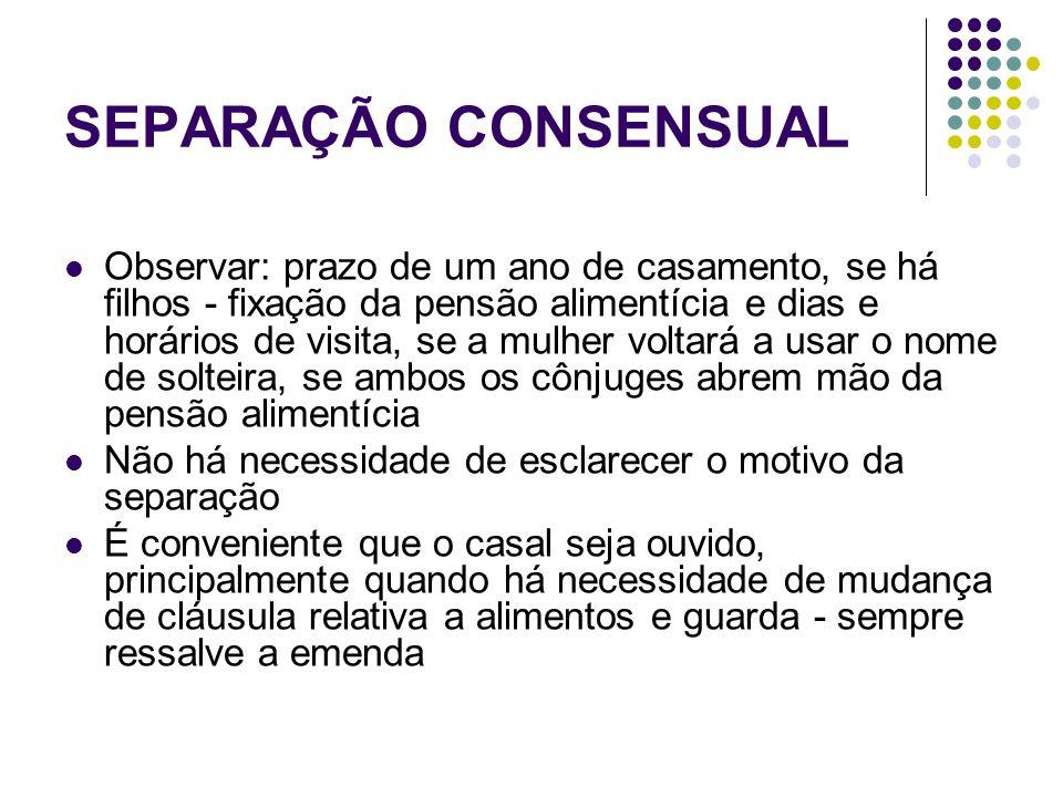 SEPARAÇÃO CONSENSUAL