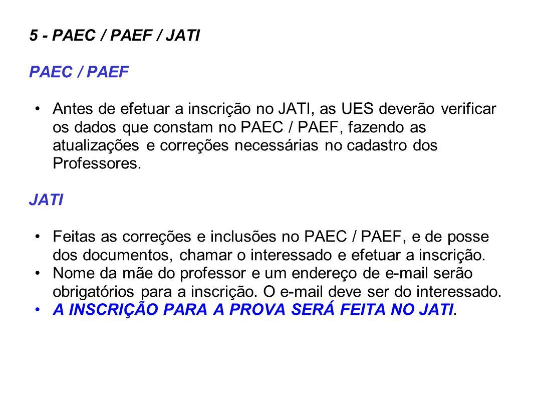 5 - PAEC / PAEF / JATI PAEC / PAEF.