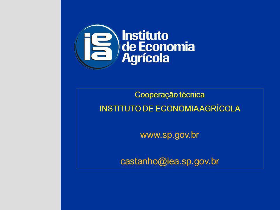 INSTITUTO DE ECONOMIA AGRÍCOLA