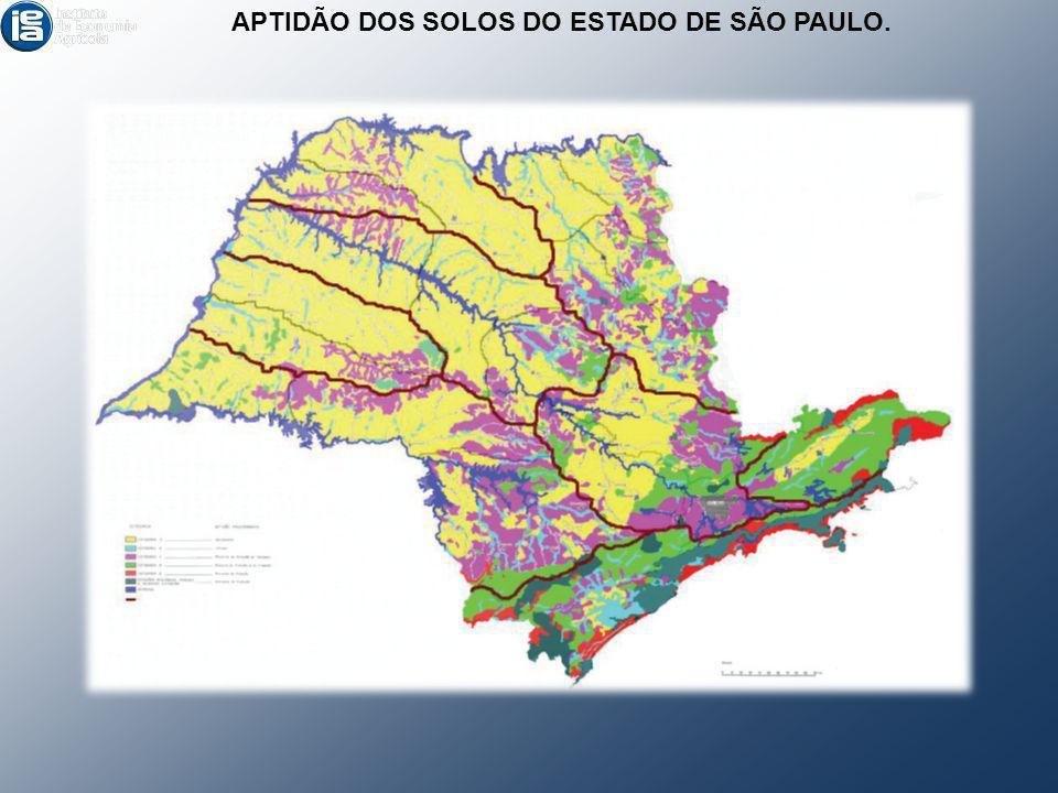APTIDÃO DOS SOLOS DO ESTADO DE SÃO PAULO.