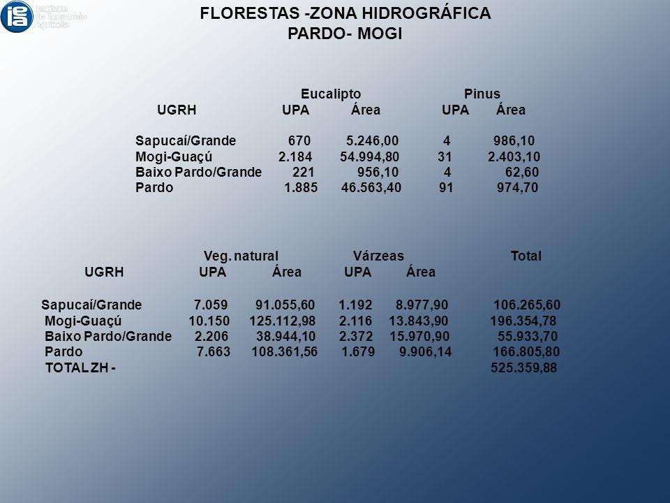 FLORESTAS -ZONA HIDROGRÁFICA
