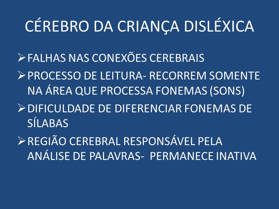CÉREBRO DA CRIANÇA DISLÉXICA