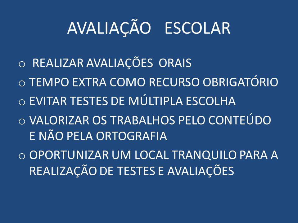 AVALIAÇÃO ESCOLAR REALIZAR AVALIAÇÕES ORAIS