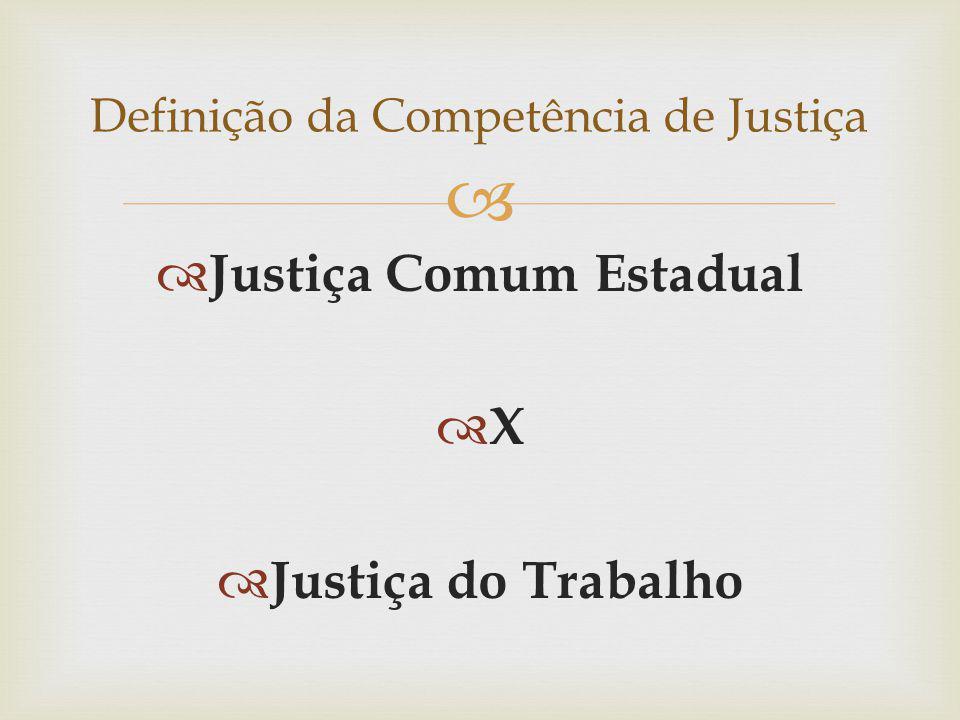 Definição da Competência de Justiça
