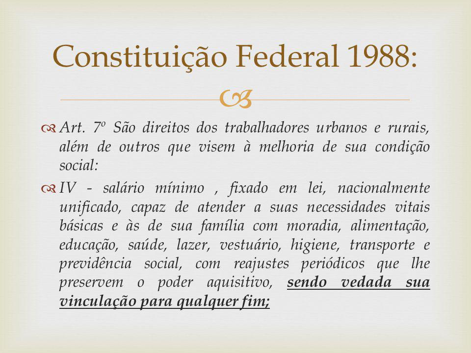 Constituição Federal 1988: