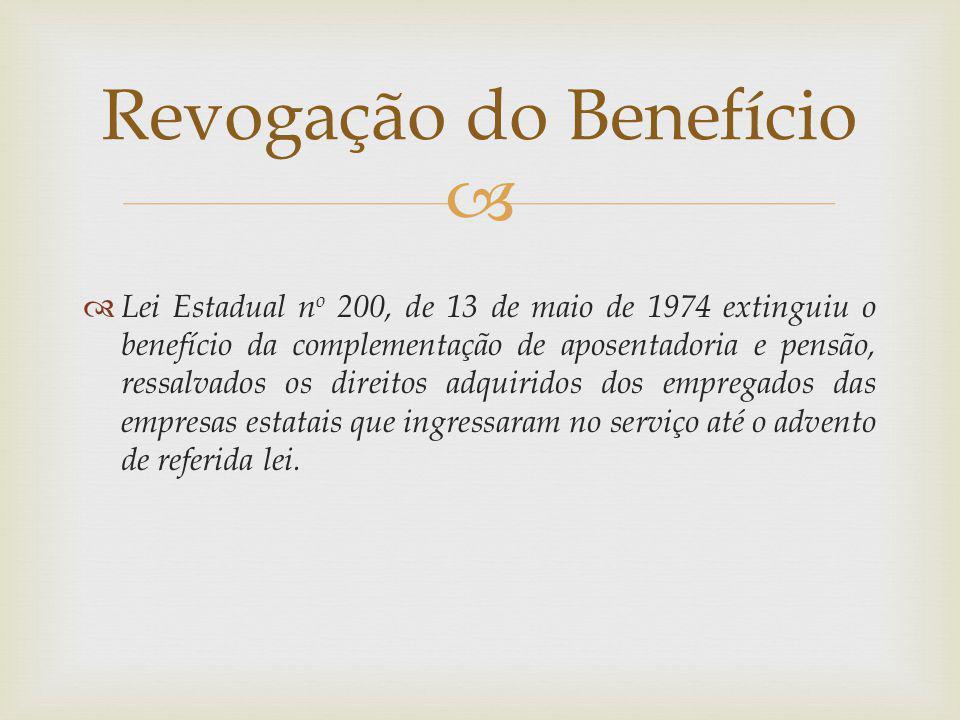 Revogação do Benefício