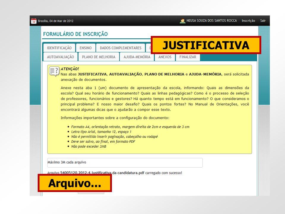 JUSTIFICATIVA Arquivo...