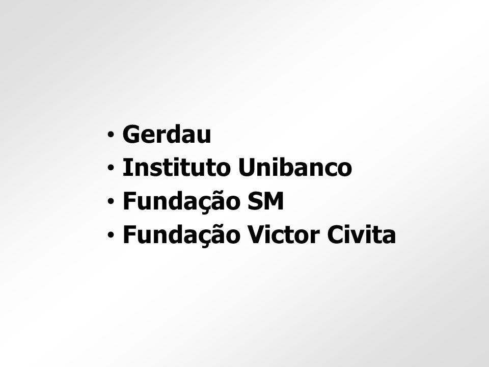 Gerdau Instituto Unibanco Fundação SM Fundação Victor Civita