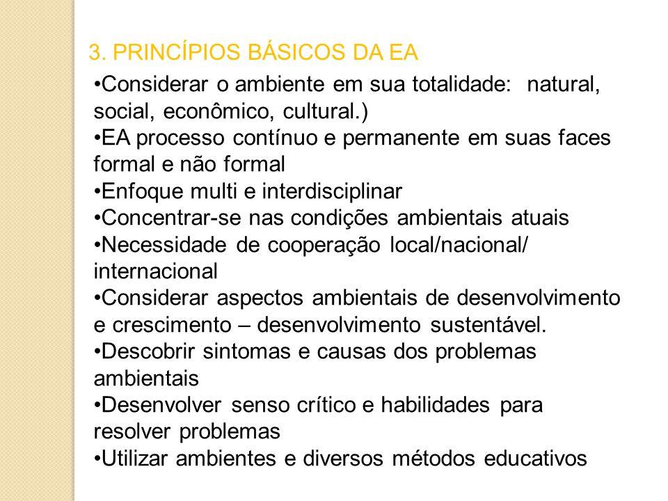 3. PRINCÍPIOS BÁSICOS DA EA