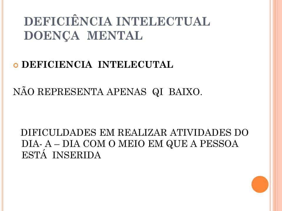 DEFICIÊNCIA INTELECTUAL DOENÇA MENTAL