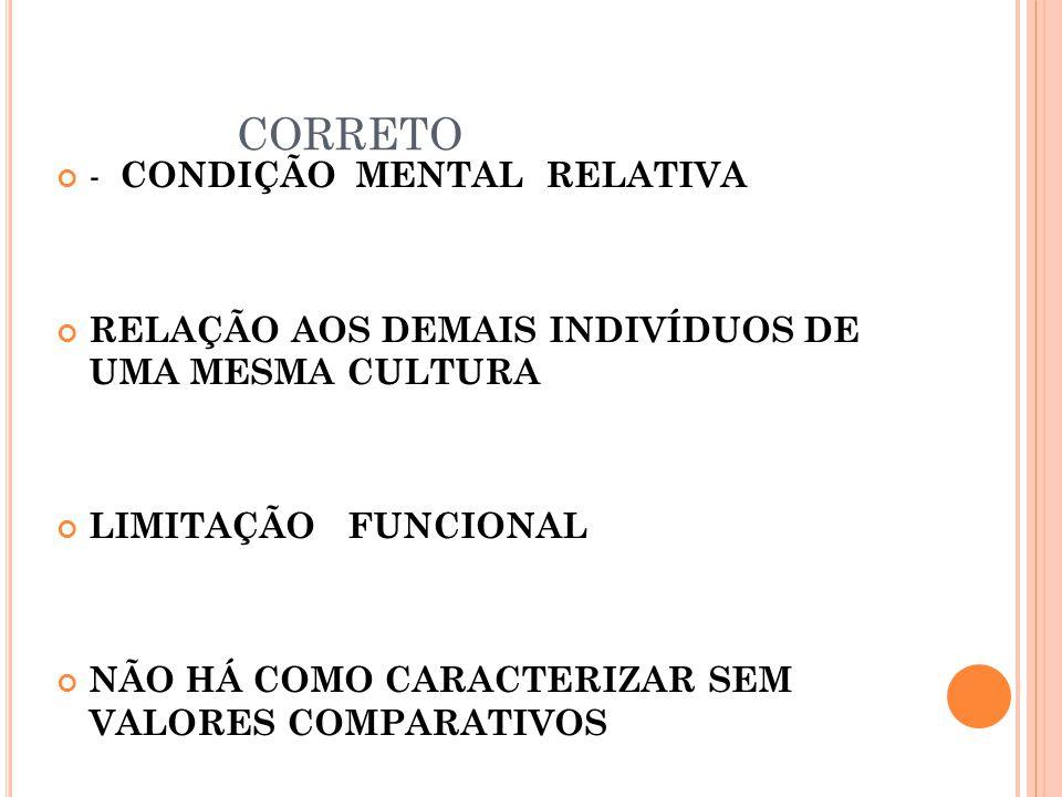 CORRETO - CONDIÇÃO MENTAL RELATIVA