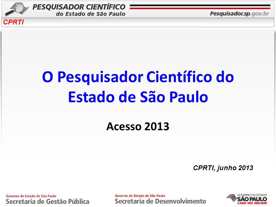 O Pesquisador Científico do Estado de São Paulo