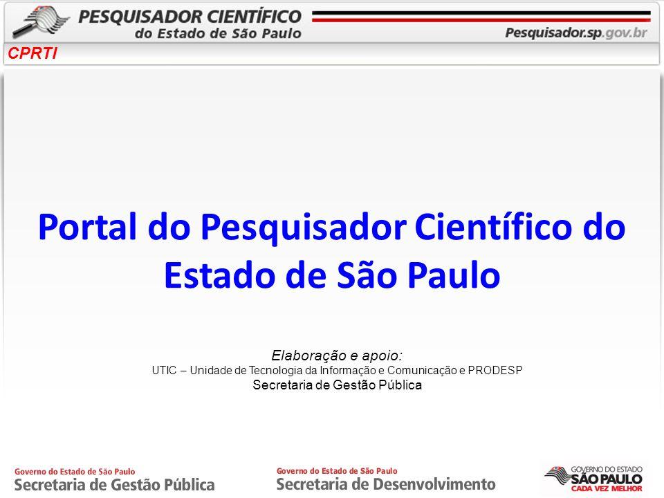 Portal do Pesquisador Científico do Estado de São Paulo