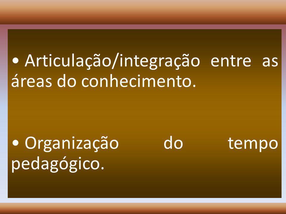 Articulação/integração entre as áreas do conhecimento.